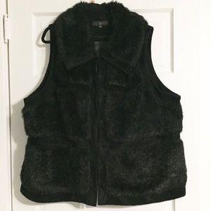 RLZ by Rachel Zoe Faux Fur Black Vest - 3X